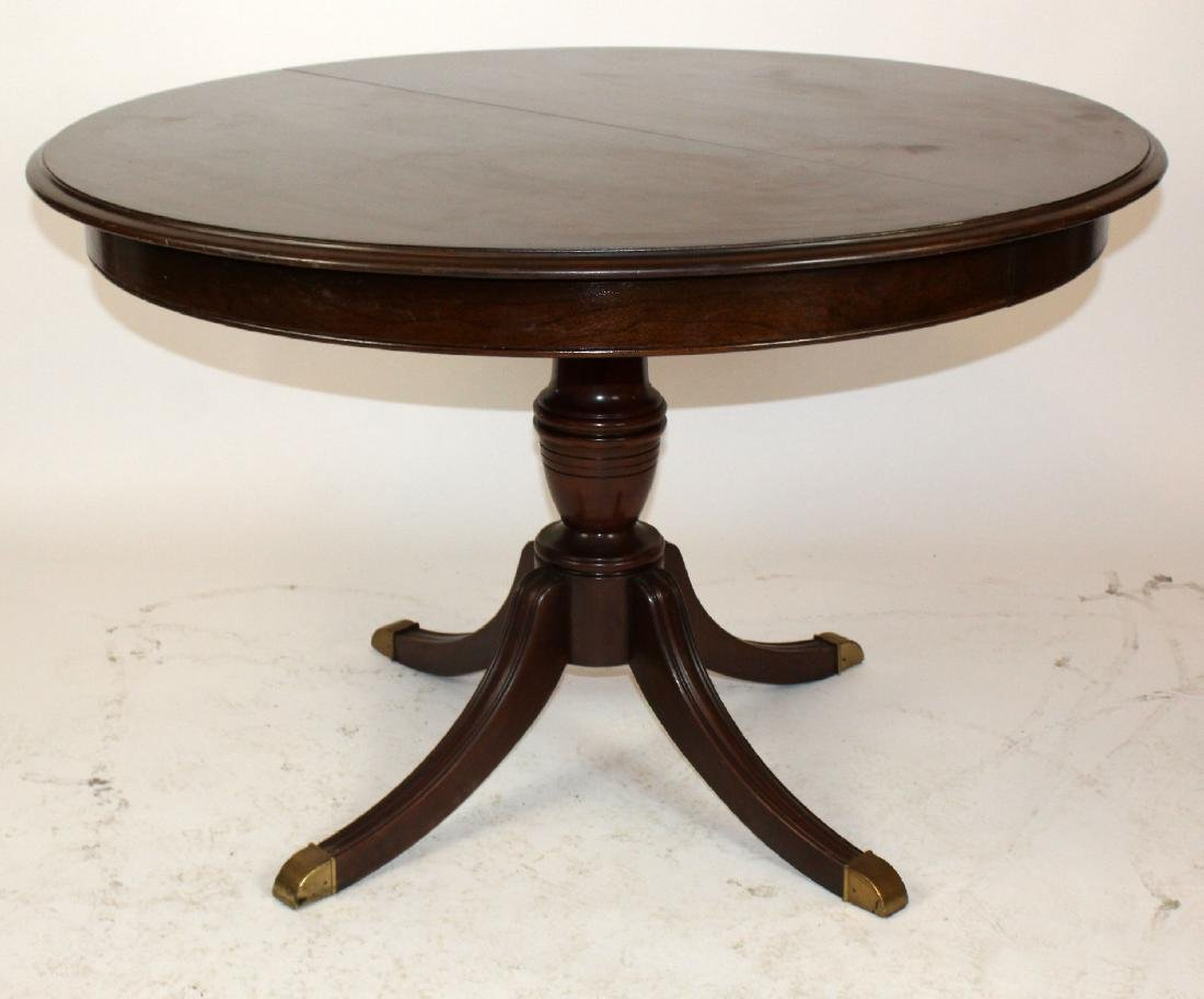 Ethan Allen pedestal base dining table