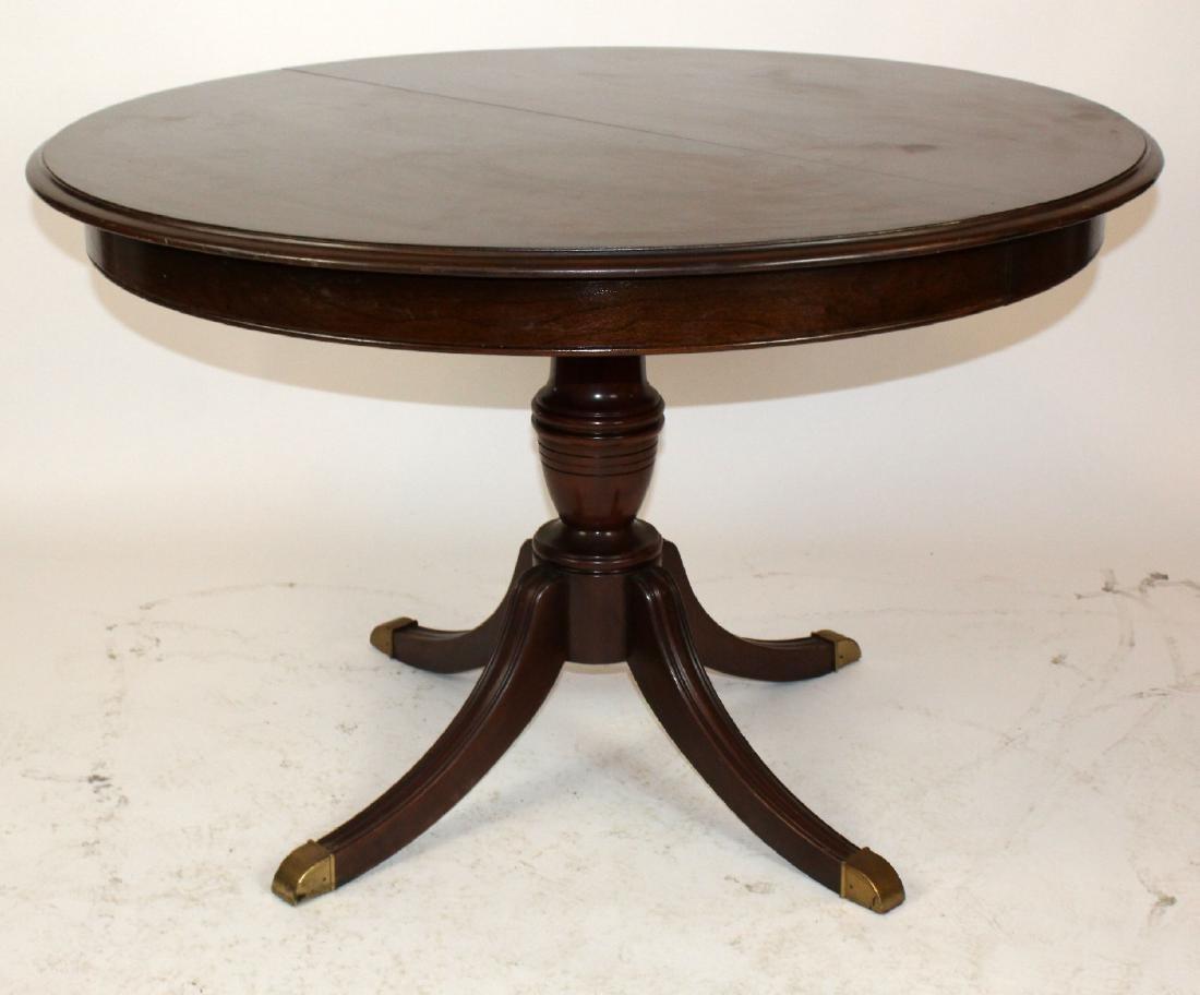 Ethan Allen pedestal base dining table