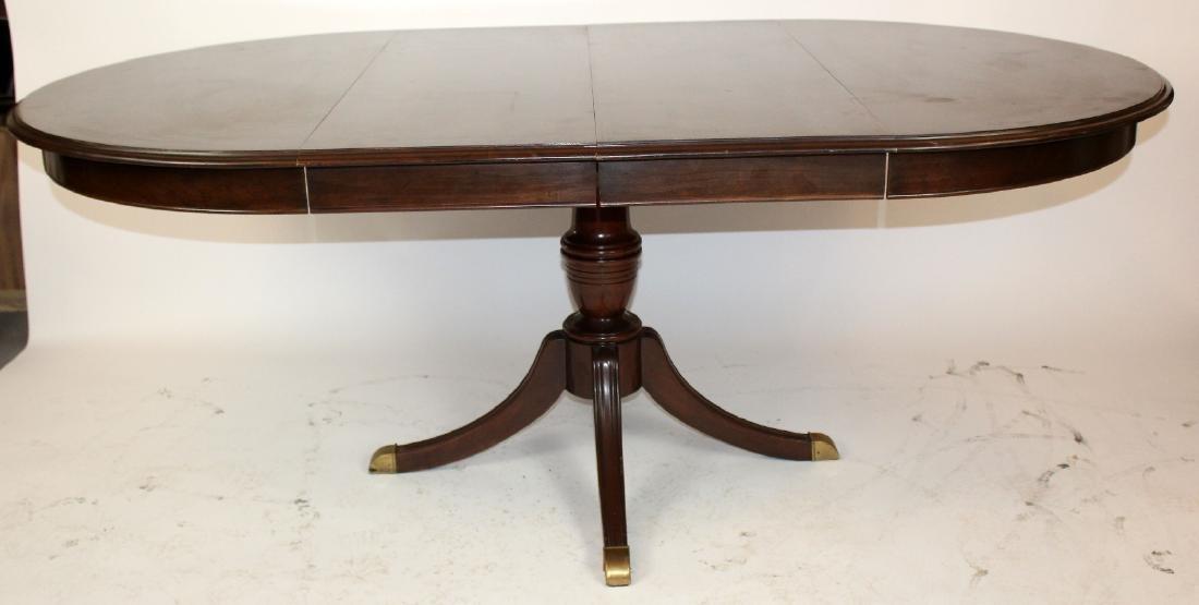 Ethan Allen pedestal base dining table - 3