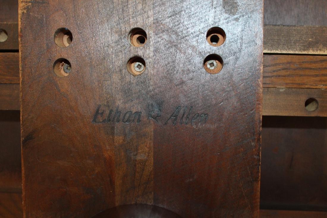 Ethan Allen pedestal base dining table - 5