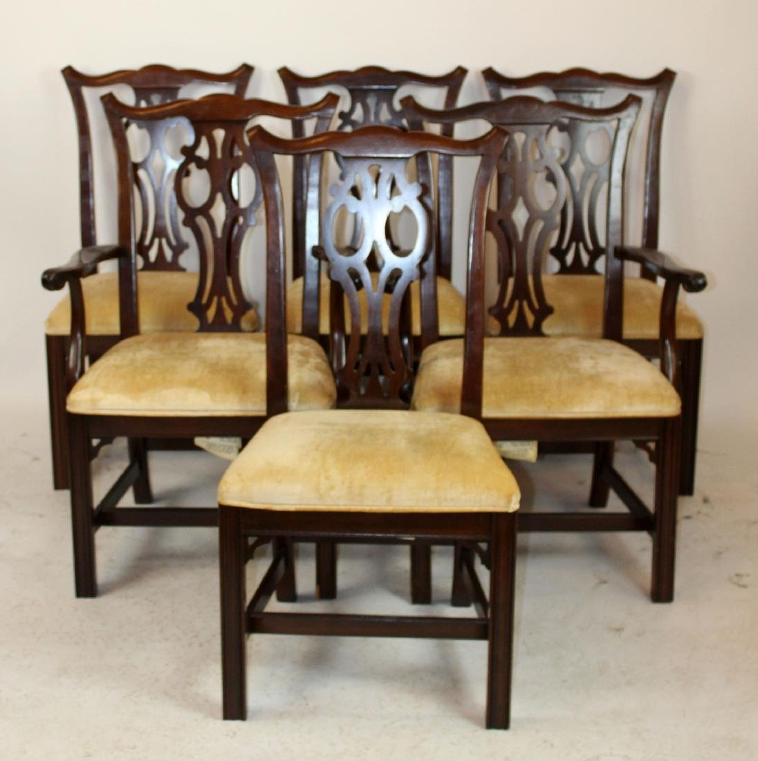 Set of 6 Ethan Allen chippendale dining chairs
