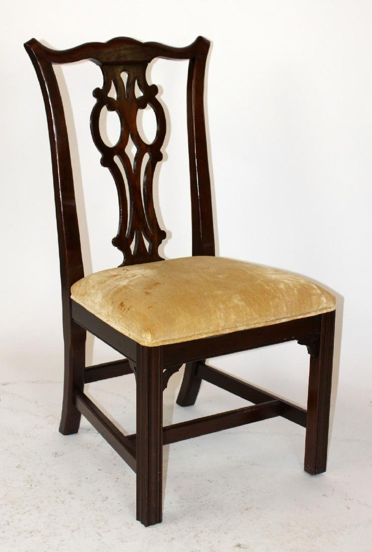 Set of 6 Ethan Allen chippendale dining chairs - 3