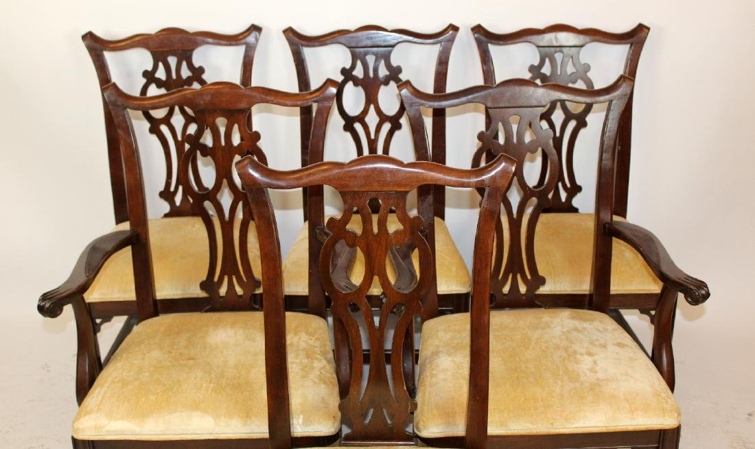 Set of 6 Ethan Allen chippendale dining chairs - 4