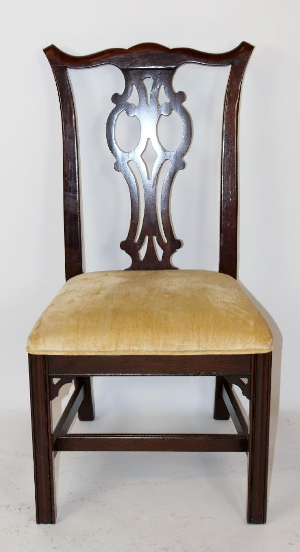 Set of 6 Ethan Allen chippendale dining chairs - 5