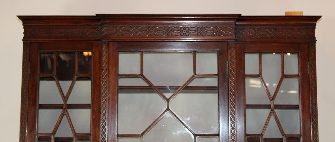 English Chippendale breakfront in mahogany - 4