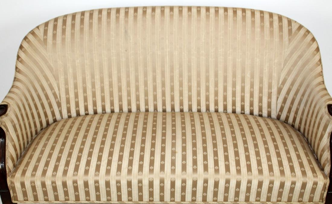 English Hepplewhite settee with mahogany frame - 5
