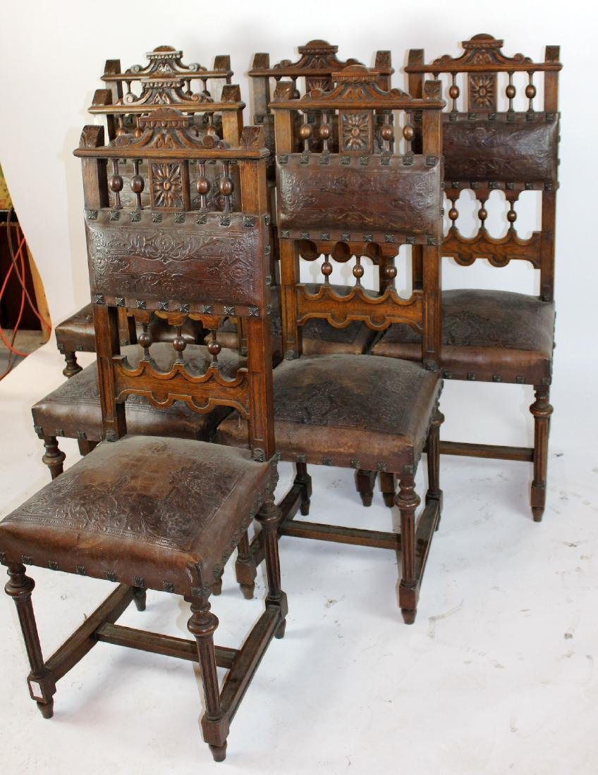 Lot of 6 French chairs in walnut - 2