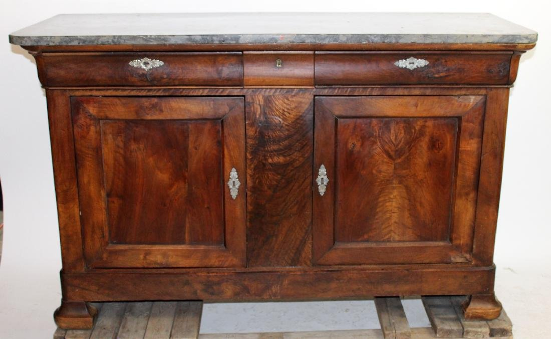 French Louis Philippe bahut in flame mahogany