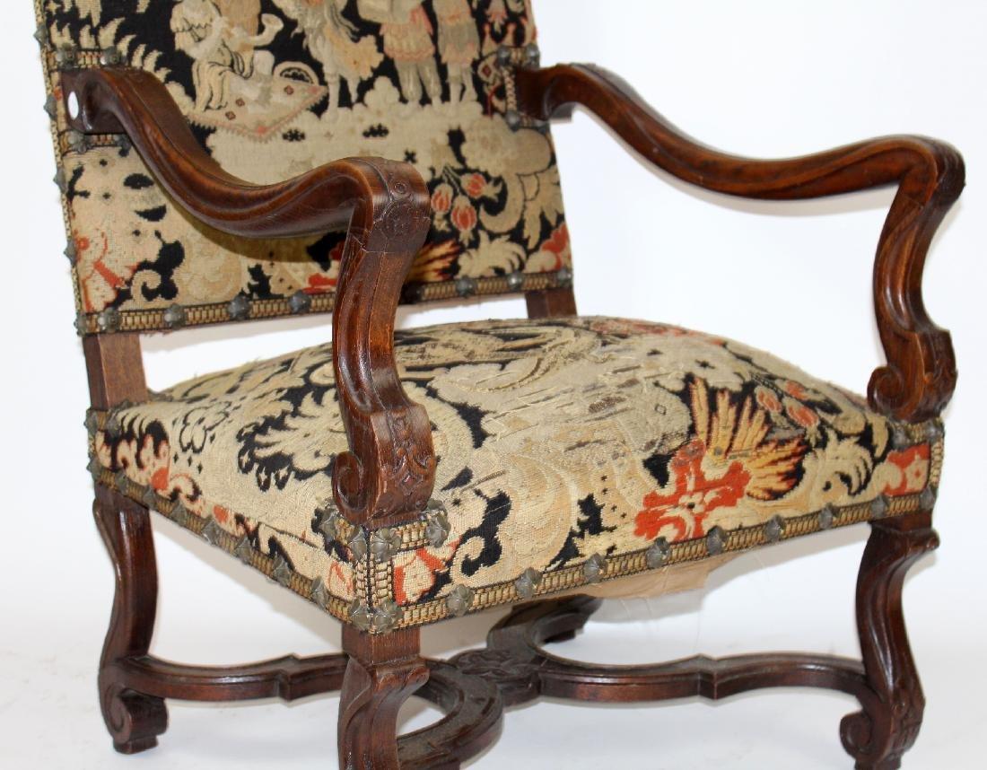 French Louis XIV walnut fauteuil - 4