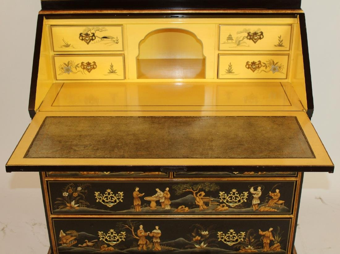 Baker chinoiserie double dome top secretary - 4