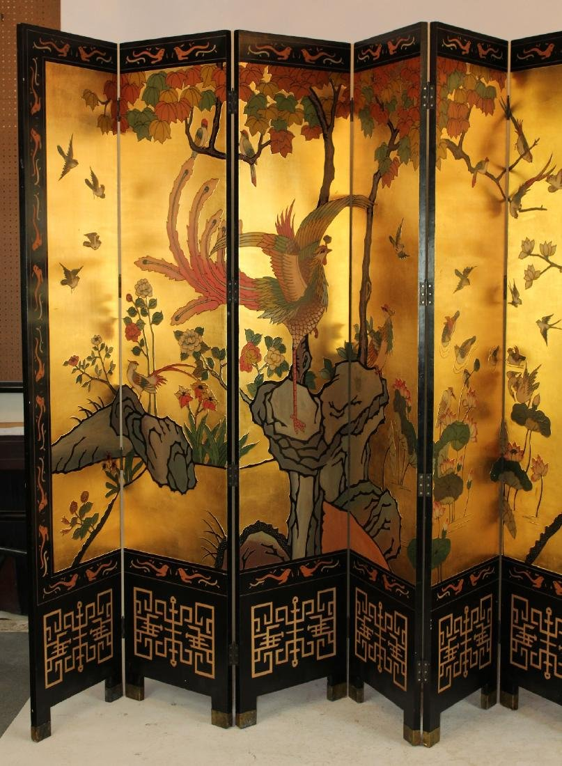 Chinoserie 8-panel folding screen - 2