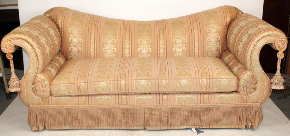 Baker Furniture Co rolled arm sofa