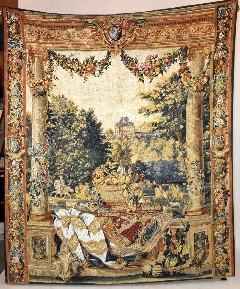 Tapestry depicting veranda with landscape - 4