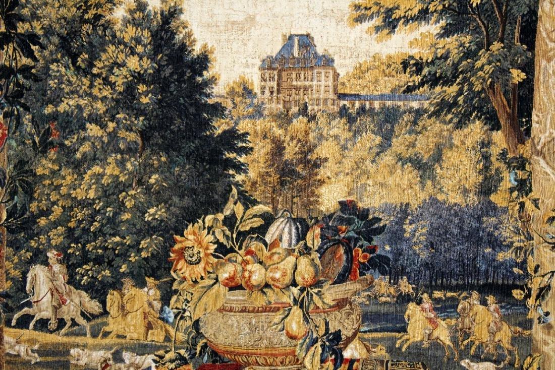Tapestry depicting veranda with landscape - 5