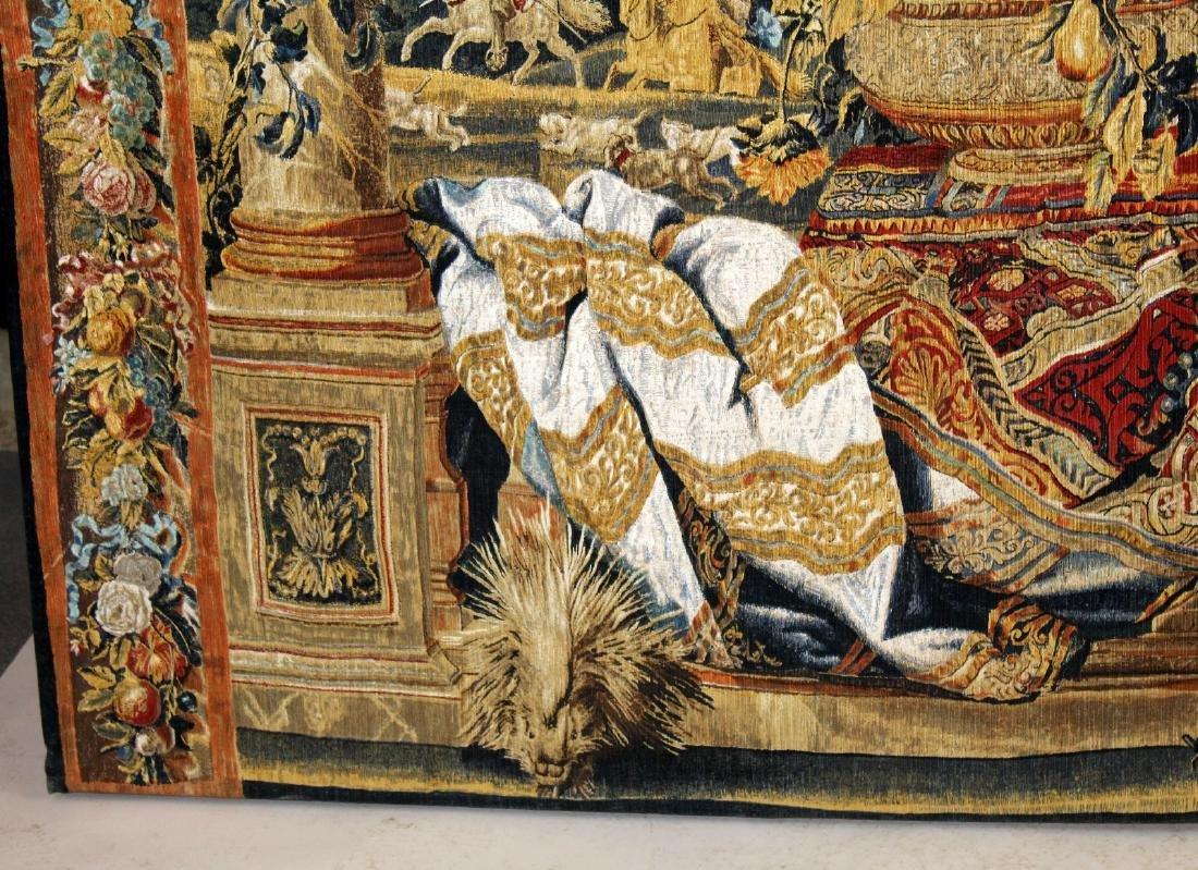Tapestry depicting veranda with landscape - 6