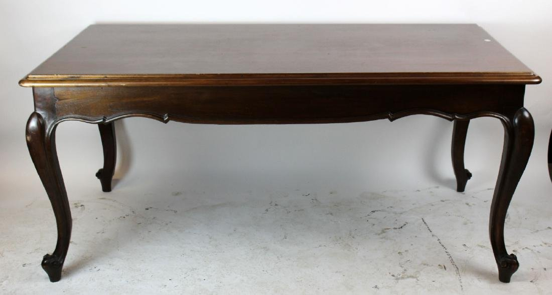 Italian Baroque dining table in walnut