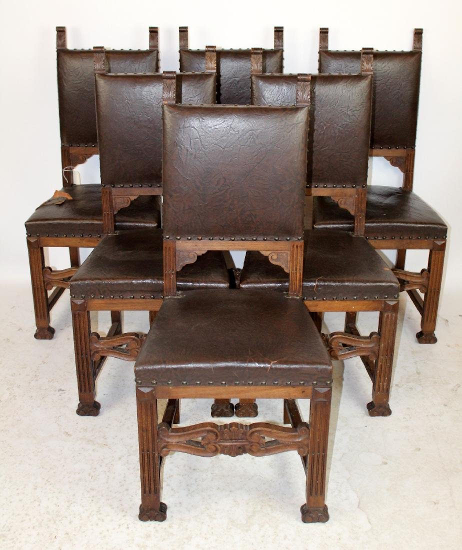 Set of 6 Italian Renaissance dining chairs