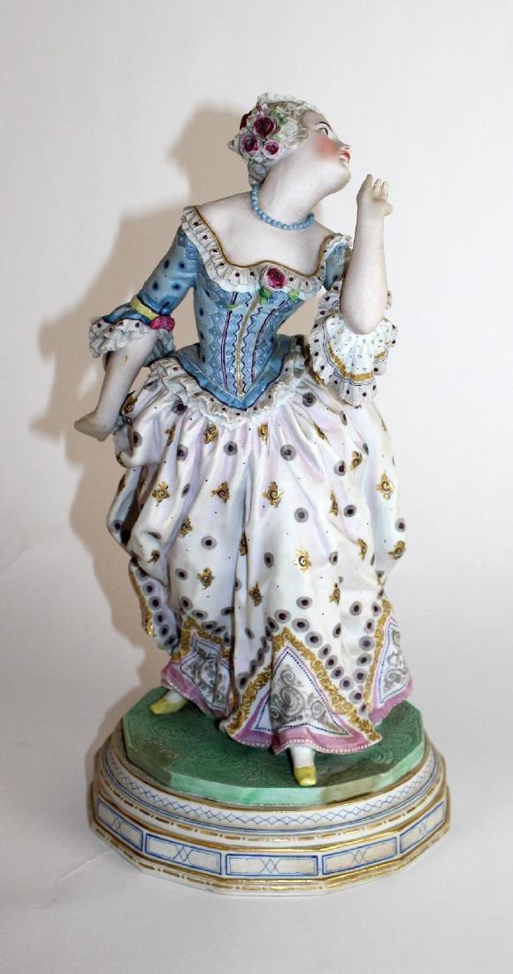Bisque porcelain figural statue