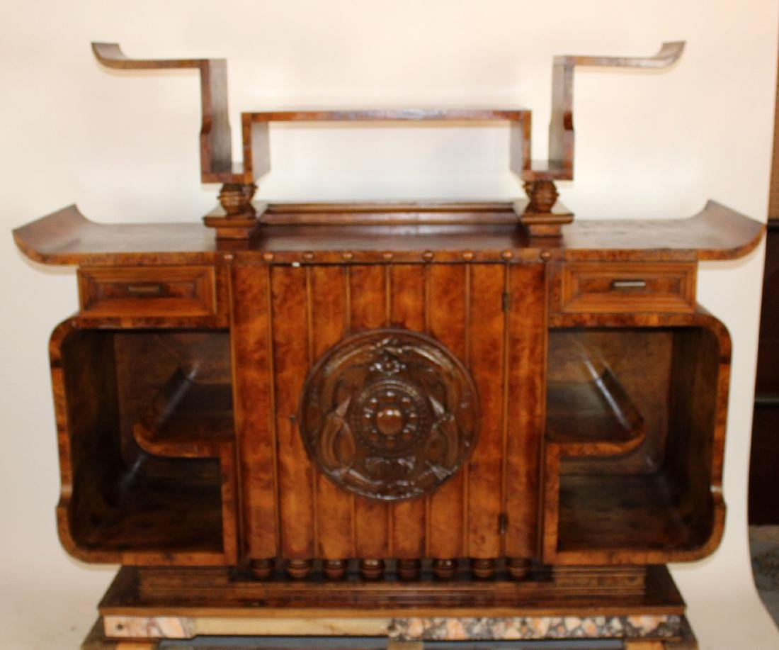 Period Art Deco sideboard in burl walnut