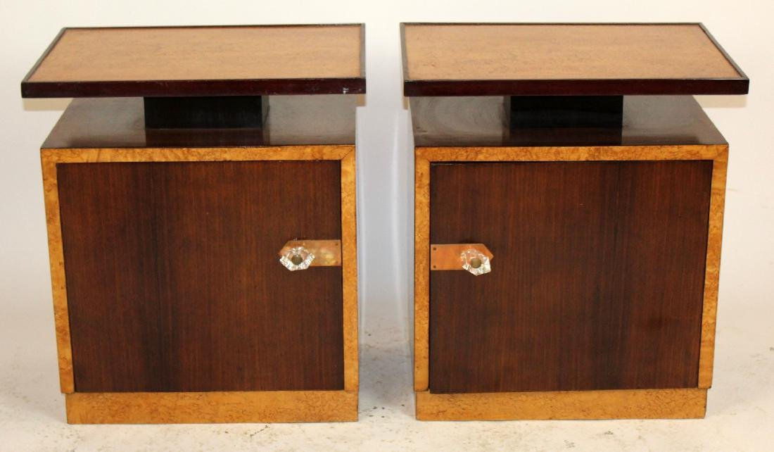 Pair of Art Deco end tables in rosewood