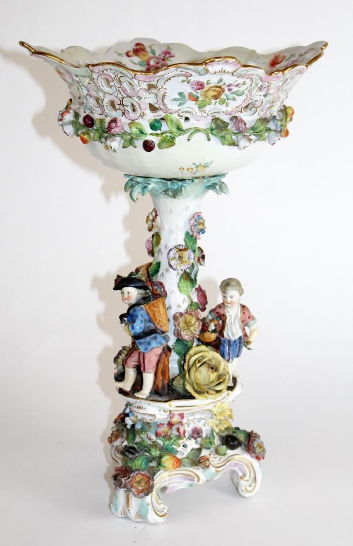 Carl Thieme Potschappel porcelain compote