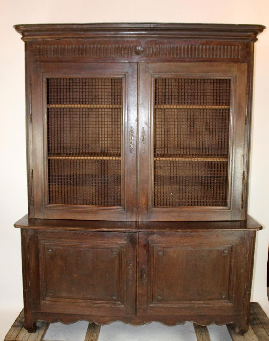 French Directoire bookcase in oak