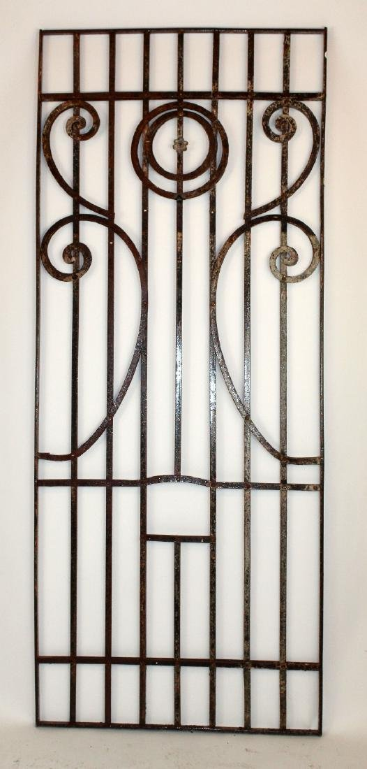 "Wrought iron panel 87""h x 35 1/2""w"