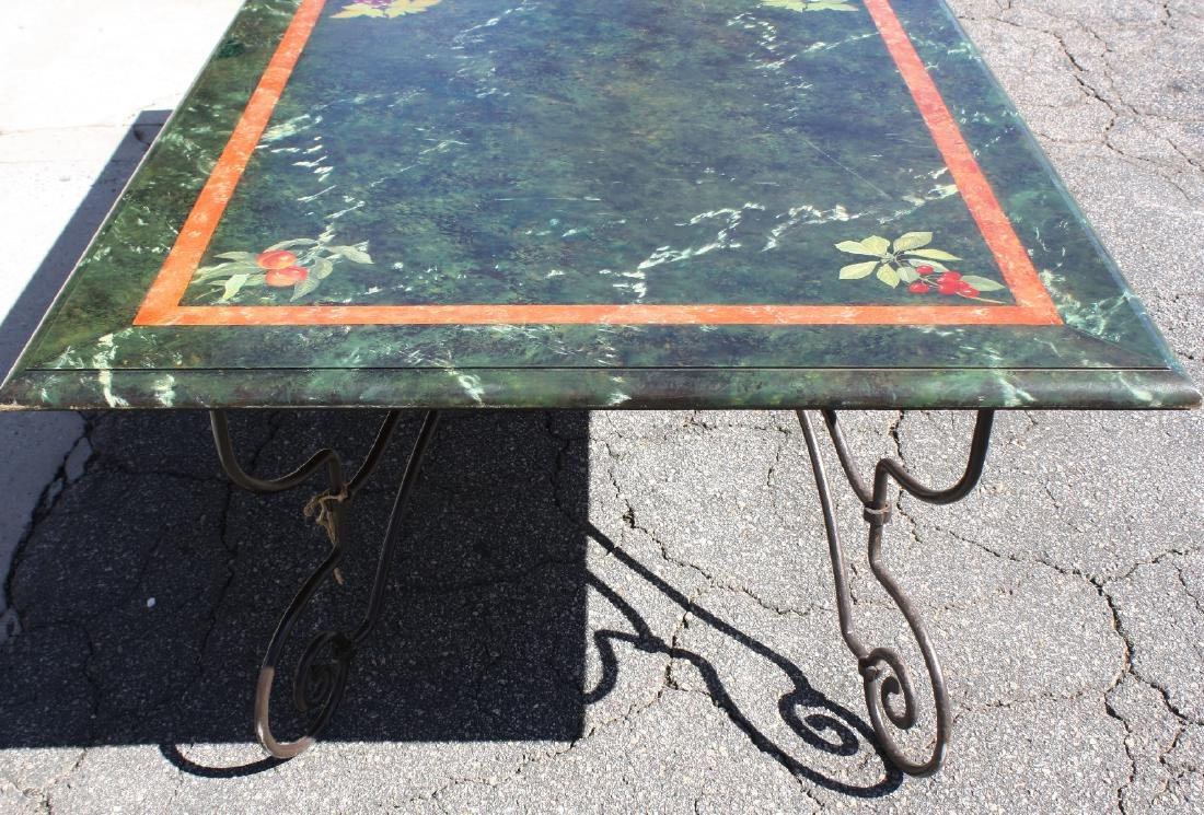 French wrought iron base table - 3