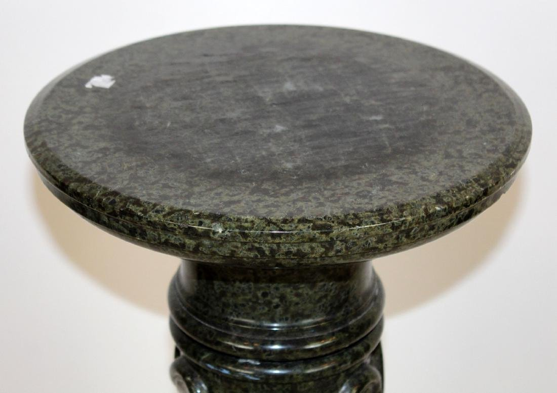 Classical green marble twisted column pedestal - 2