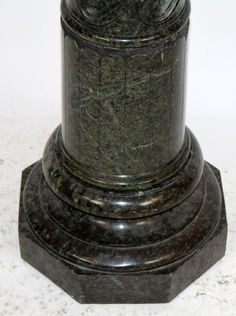 Classical green marble twisted column pedestal - 5