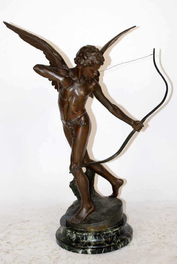 L'amour a L'arc (cupid) French figural statue