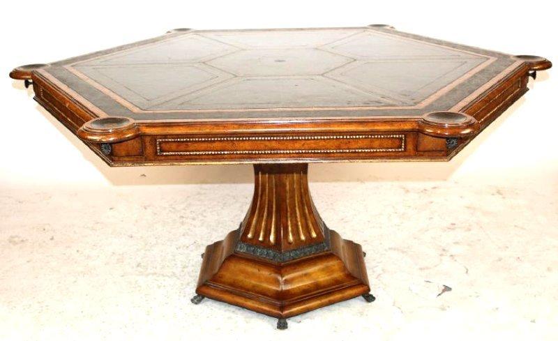 Maitland Smith pedestal base game table