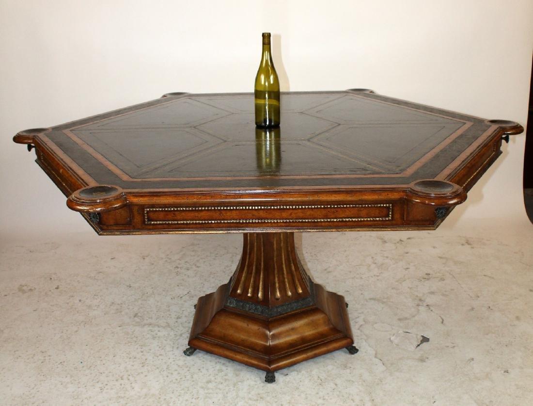Maitland Smith pedestal base game table - 3