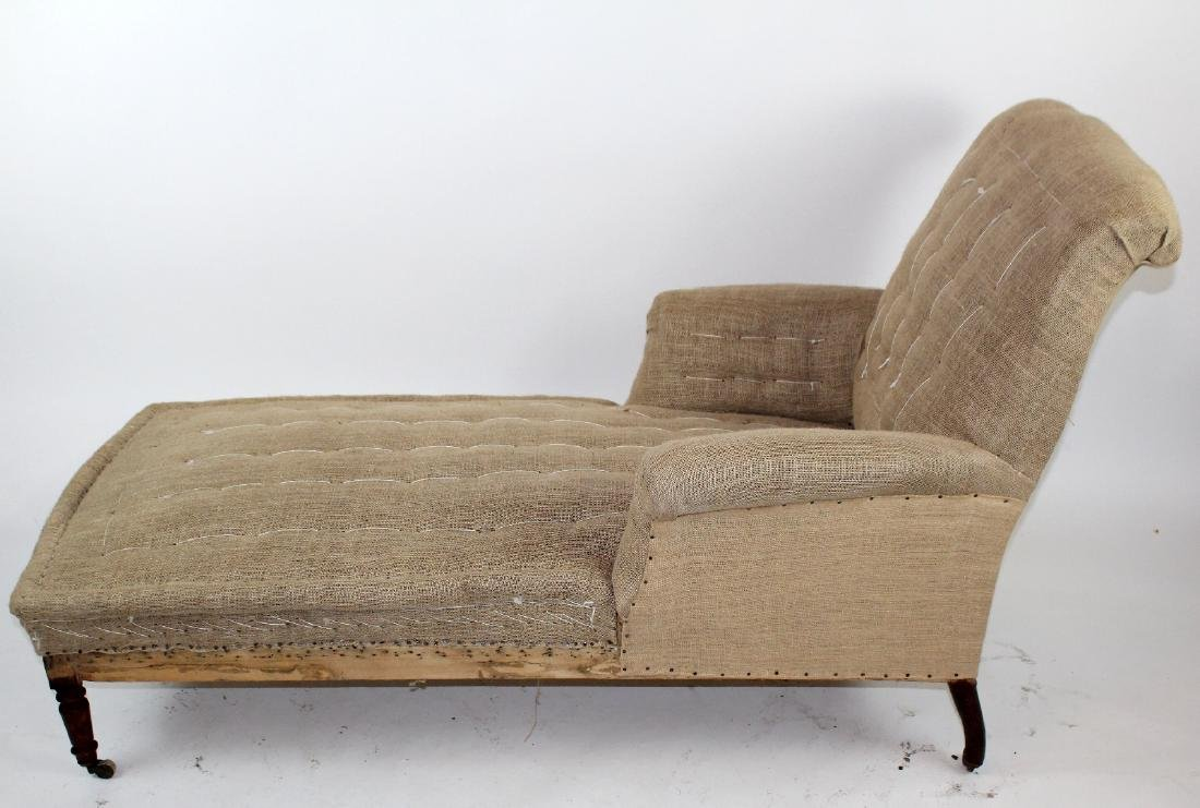French Napoleon III chaise longue