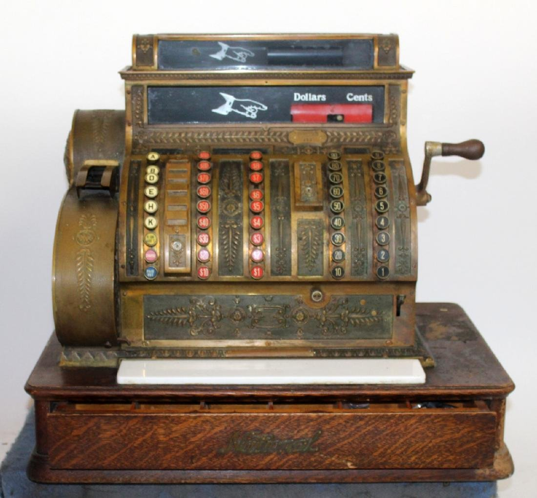 Antique National cash register model 452