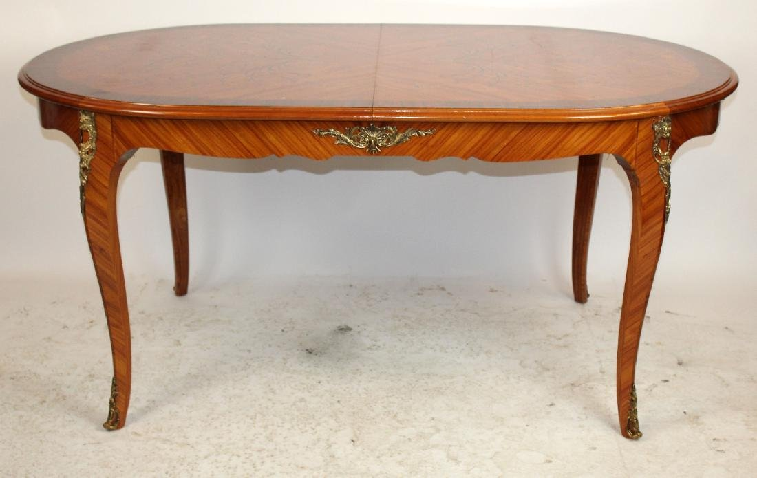 Italian marquetry top dining table