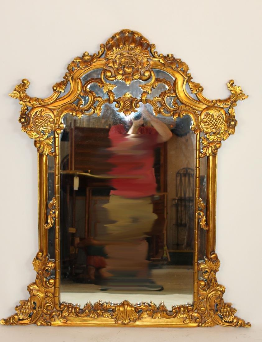 Rococo style gilt framed mirror