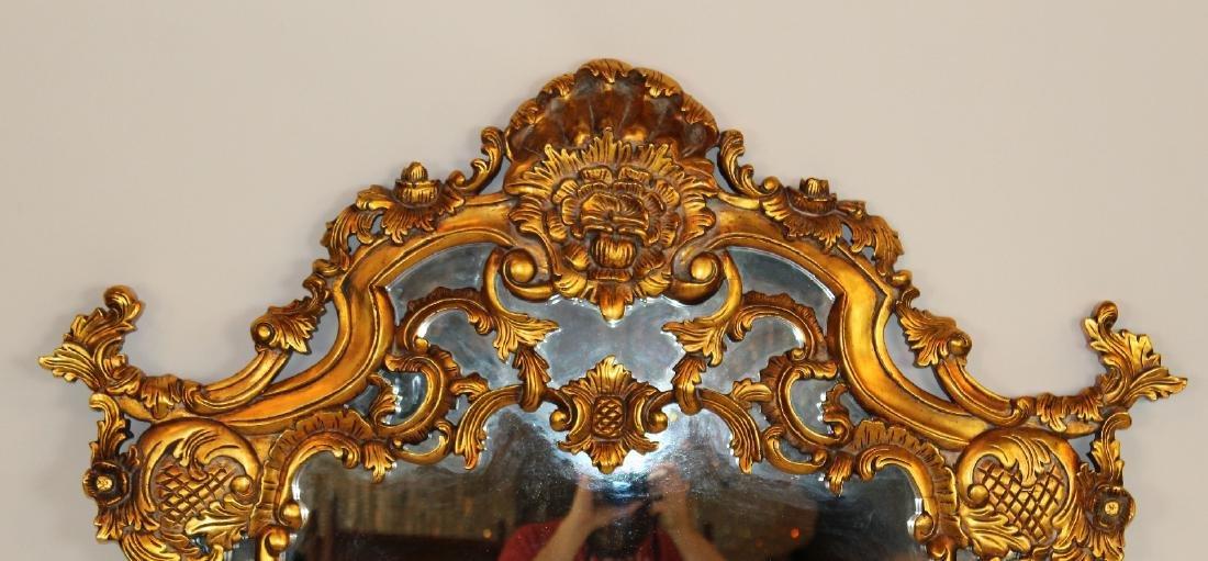 Rococo style gilt framed mirror - 2
