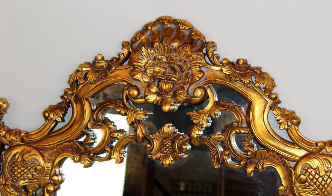 Rococo style gilt framed mirror - 5