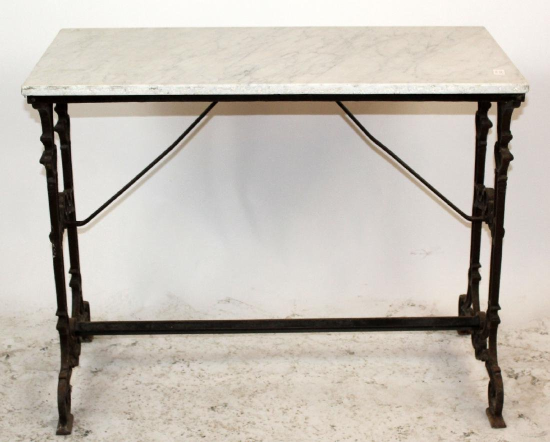 French marble top cafe table.