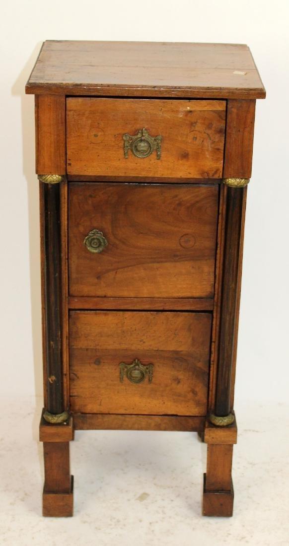 French Directoire 3 drawer chevet