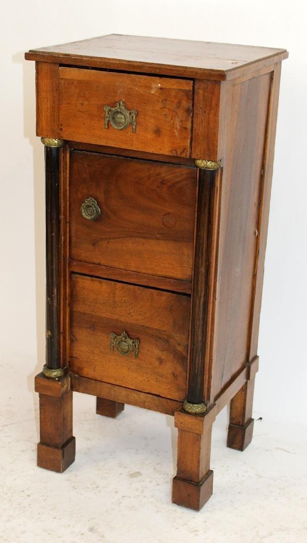 French Directoire 3 drawer chevet - 2