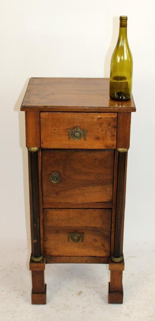 French Directoire 3 drawer chevet - 3