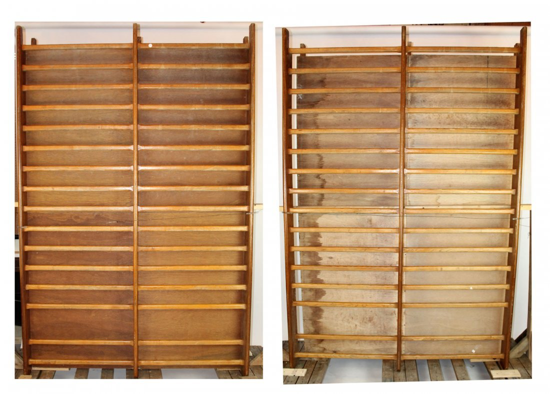 Pair of large scale French drying racks