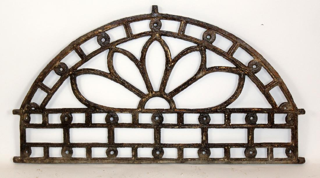 Hand forged iron arch top panel