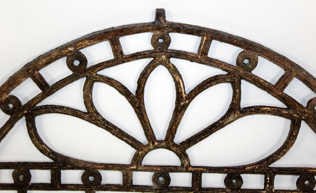Hand forged iron arch top panel - 2