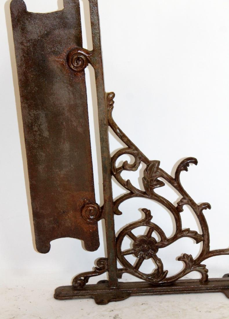 Rustic iron bracket sign - 2