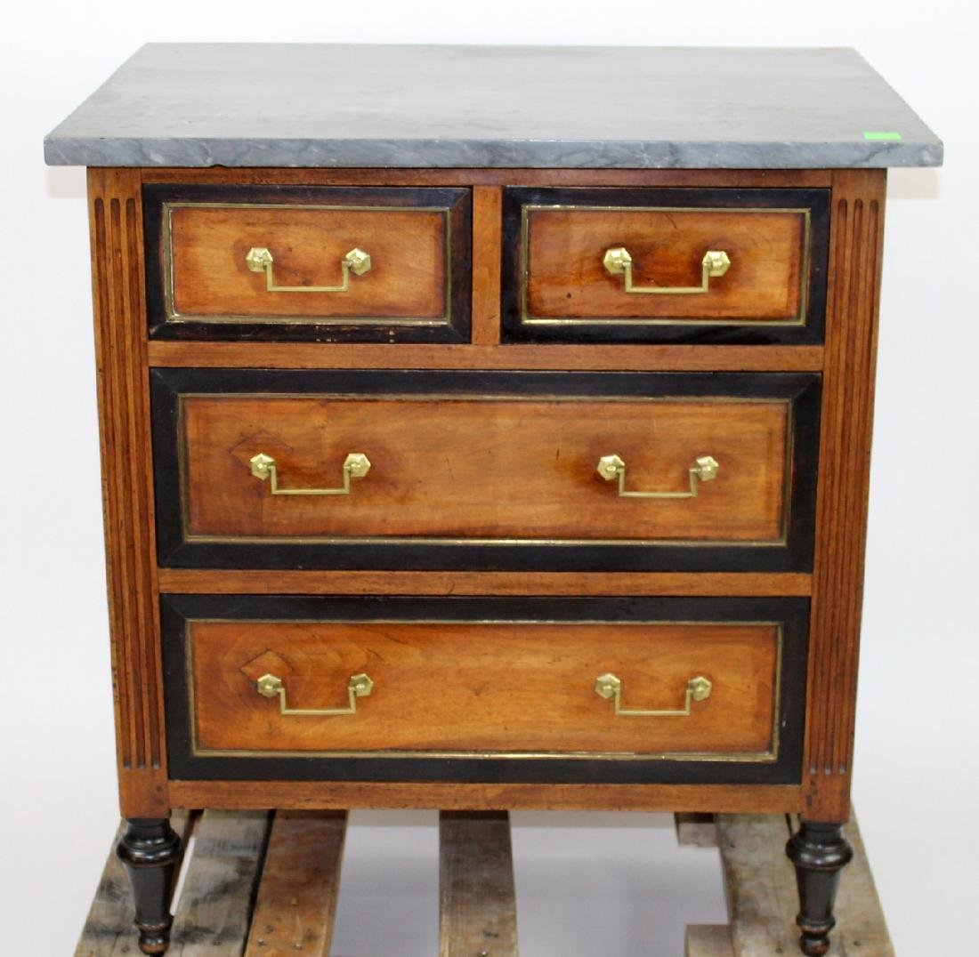 Louis XVI commode with marble top