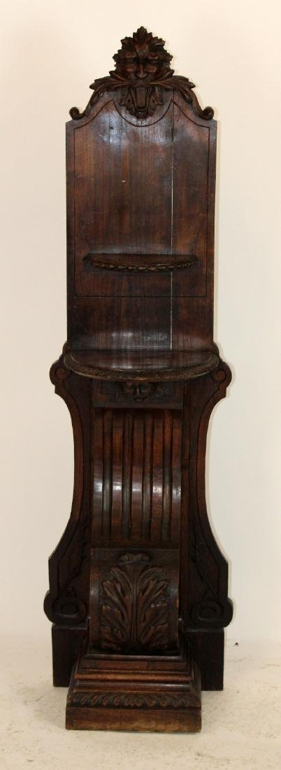 French heavily carved stand in oak