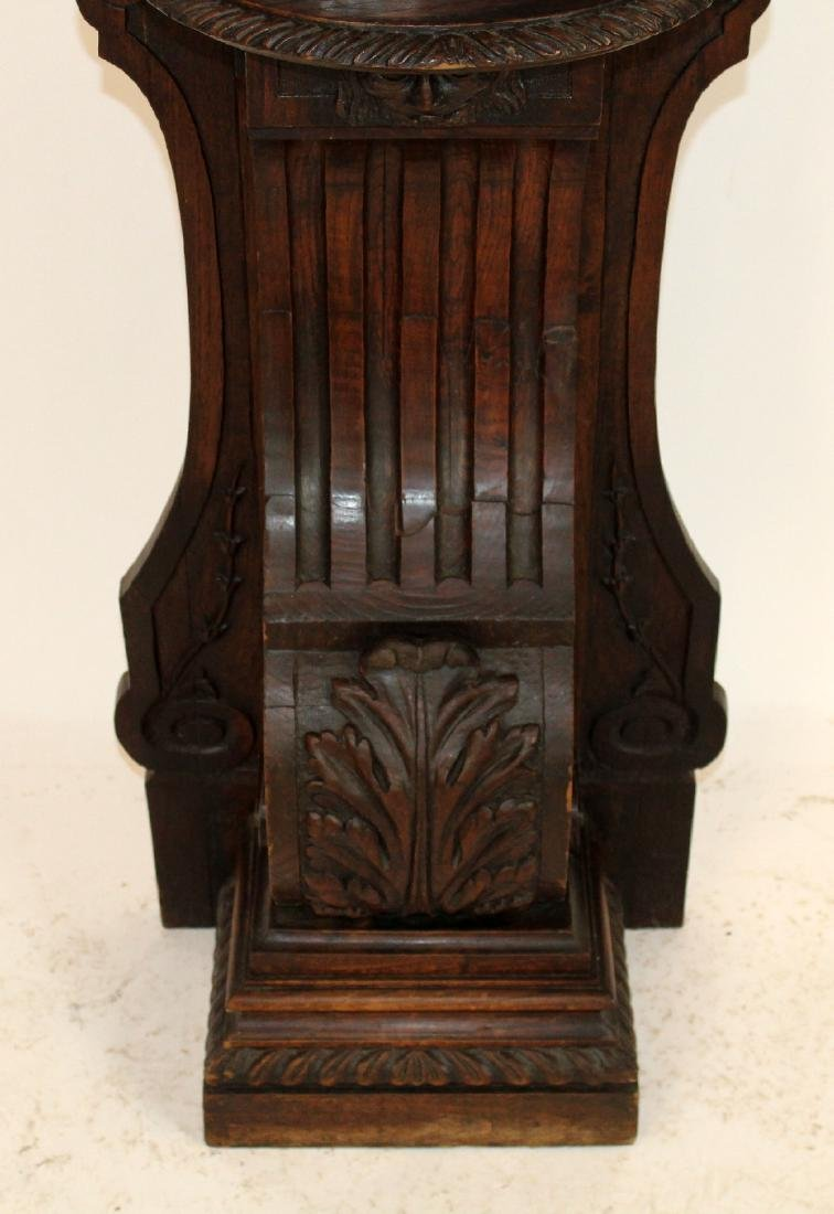 French heavily carved stand in oak - 2